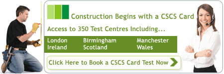 CSCS Tests and CSCS Cards Online Booking