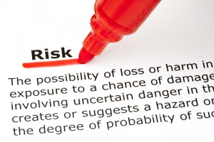 risk text red marker pen