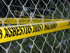asbestos dust sign