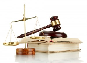 A picture of law books and scales of justice