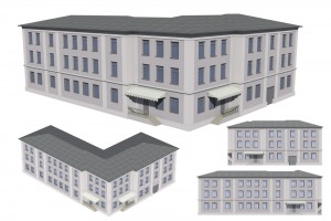 Architectural 3D image of a Building