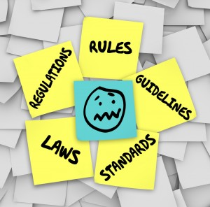 Health and safety rules and regulation post it notes