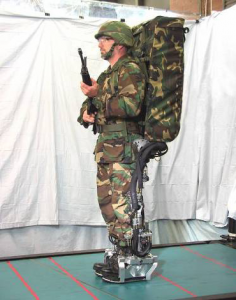 Army man wearable exoskeletons