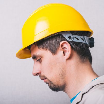 Construction worker with depression