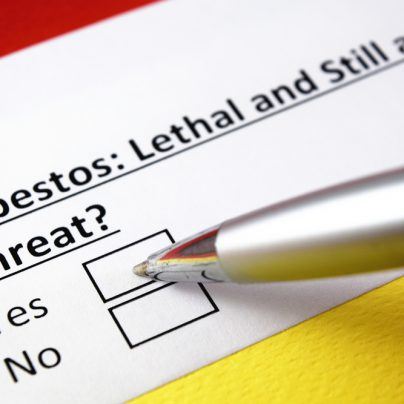 Volunteer-based organisations and the asbestos threat