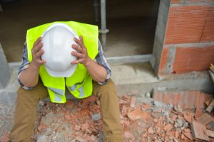 health and wellbeing distraught construction worker